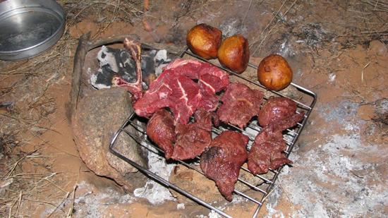 Viande sur le grill !